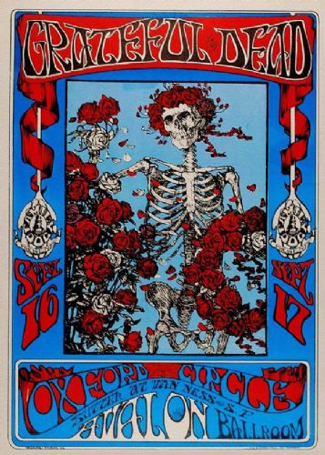 THE GRATEFUL DEAD - Oxford Circle 1966 live canvas print - self adhesive poster - photo print